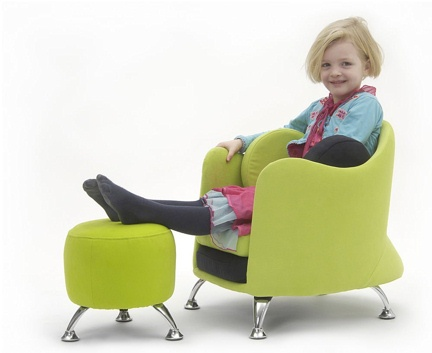 armchairs and pouf for children