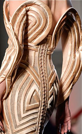 Jean Paul Gaultier - Amazing, love this corseted dress, think we'll use this as a bit of inspiration for our next series of corsets... mmmm JPG i love you!