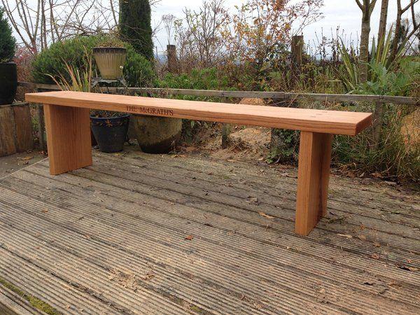 Bespoke personalised Oak Bench