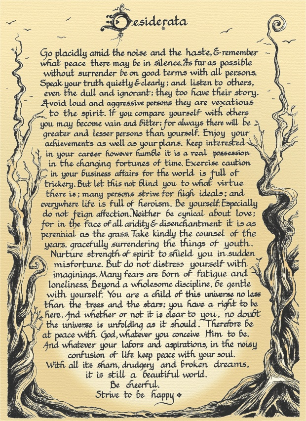1000 Ideas About Desiderata Poem On Pinterest
