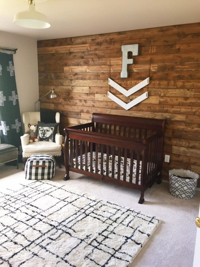 Rustic Woodland Nursery // Baby boy nursery ideas // Lynzy & Co.