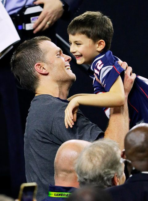 See our favorite cute moments from the Brady family super bowl celebration.
