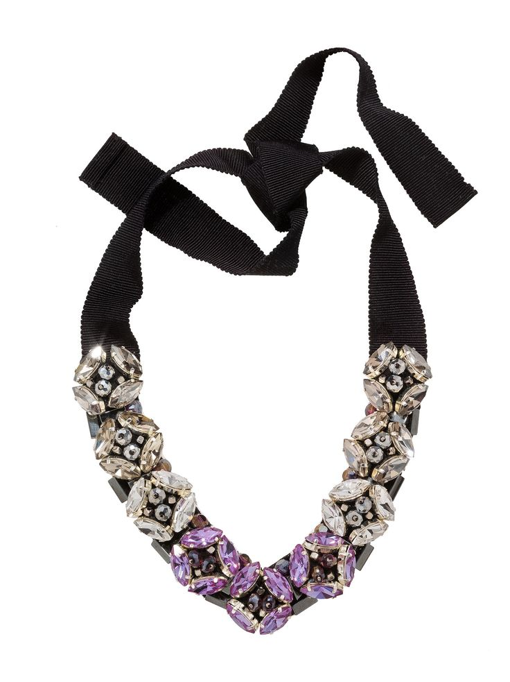 RIENNE Rose Necklace from Designrs.co  This floral motif necklace is so-so-sweet! With its touches of crystals and its glass beads.
