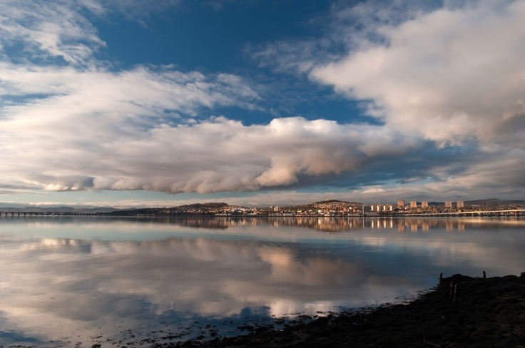 'Dundee from Fife' - Corinne Mills | Looking north across the River Tay to Dundee from Newport on Tay