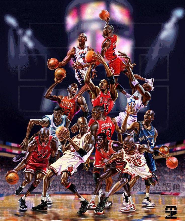 3-D Michael Jordan Poster