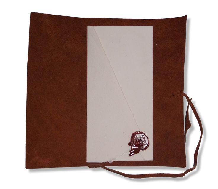 Gift voucher in wax sealed envelope