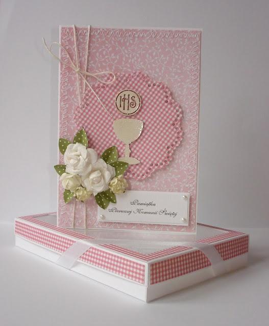 Pink communion card