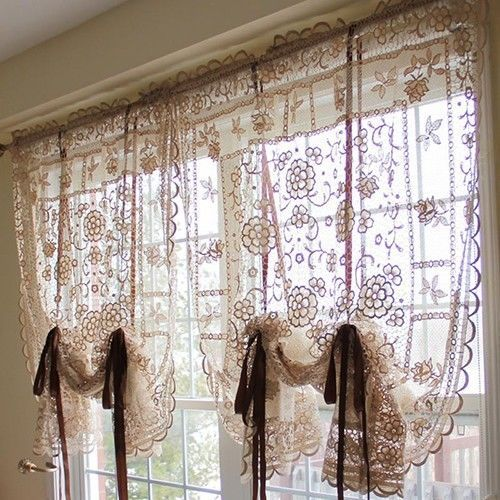 Reticella Shabby Cottage Chic French Luxury Victorian Lace Balloon Shade