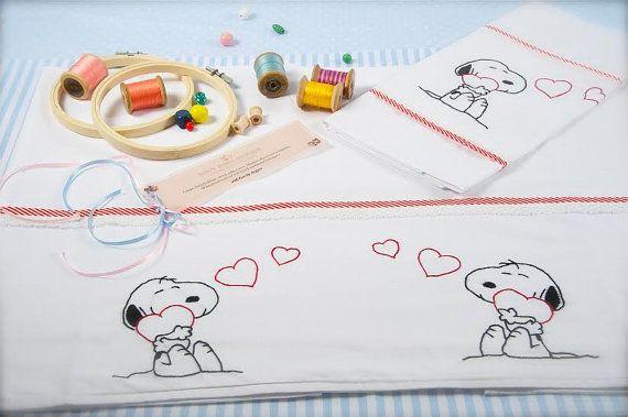 baby linen sheet pillowcasehand by babysdreamfairytales on Etsy