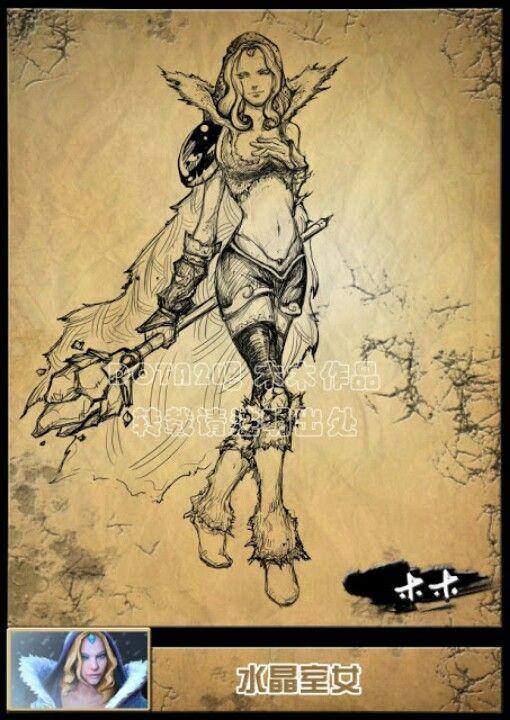 DOTA2 character sketch 2.
