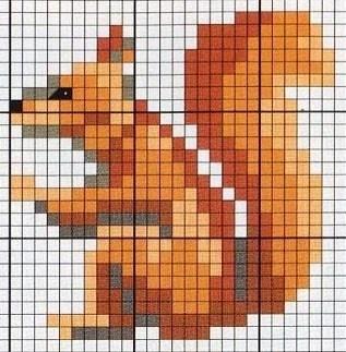 cross stitch chart, for mitten maybe..