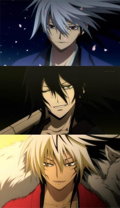 Rikuo, Rihan and Nurarihyon fromNurarihyon no Mago / Nura: Rise of the Yokai Clan