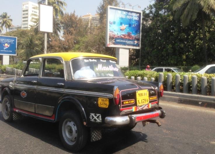 Mumbai taxi. 60p to £1.00 per journey