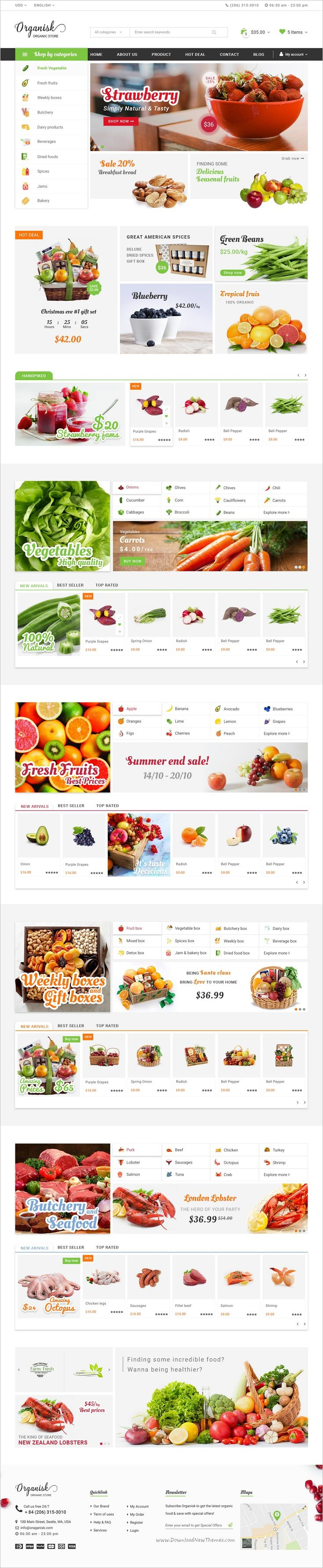 Organic is a fresh and clean design premium #Photoshop #template for organic shop #eCommerce website #webdev with 6 unique homepage versions and 17 fully layered PSD files download now➩ https://themeforest.net/item/organisk-multipurpose-organic-psd-template/18553275?ref=Datasata