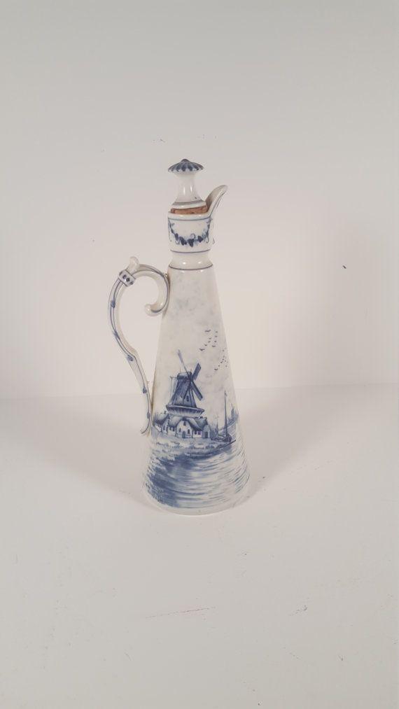 Cruet Decanter Rauensteiner 1894 Blue and white by SoItsOld