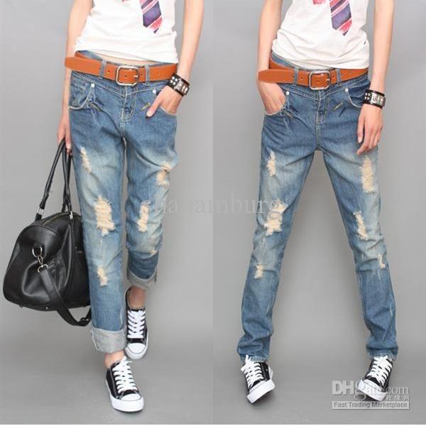 Cheap Jeans Denim - Best Women S Loose Jeans Women S Heren Jeans Online with $21.2/Piece   DHgate