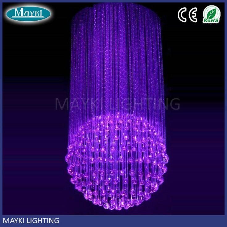 Mini one ball fiber optic sphere light chandelier