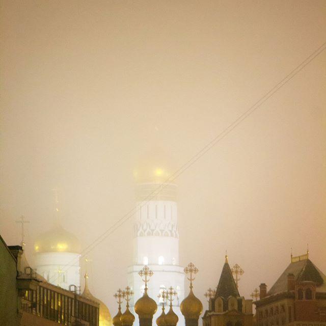 Moscow November, cold, rainy, foggy .... beautiful! #mvdyakonova #millieart