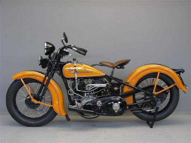 yellow Harley Davidson Knucklehead