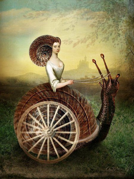 Whimsical surreal painting art
