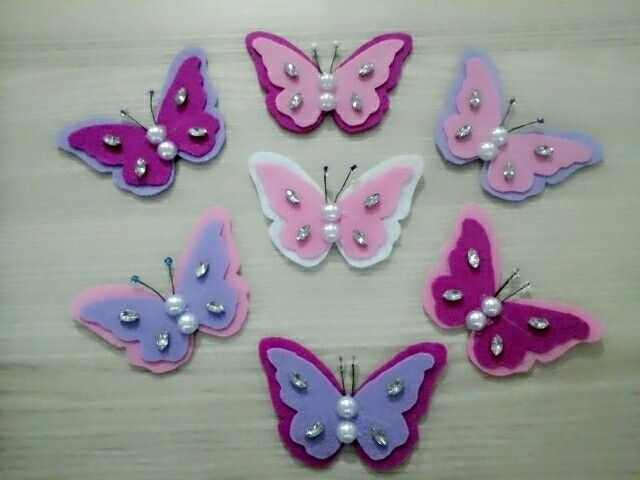 Butterfly magnets for my twindaughter's teachers