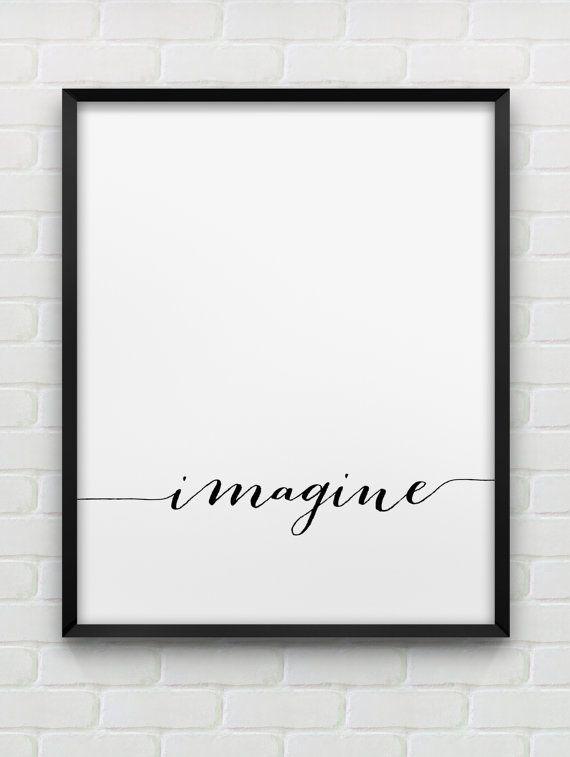arte de pared de 'Imagine' imprimible / / por spellandtell en Etsy