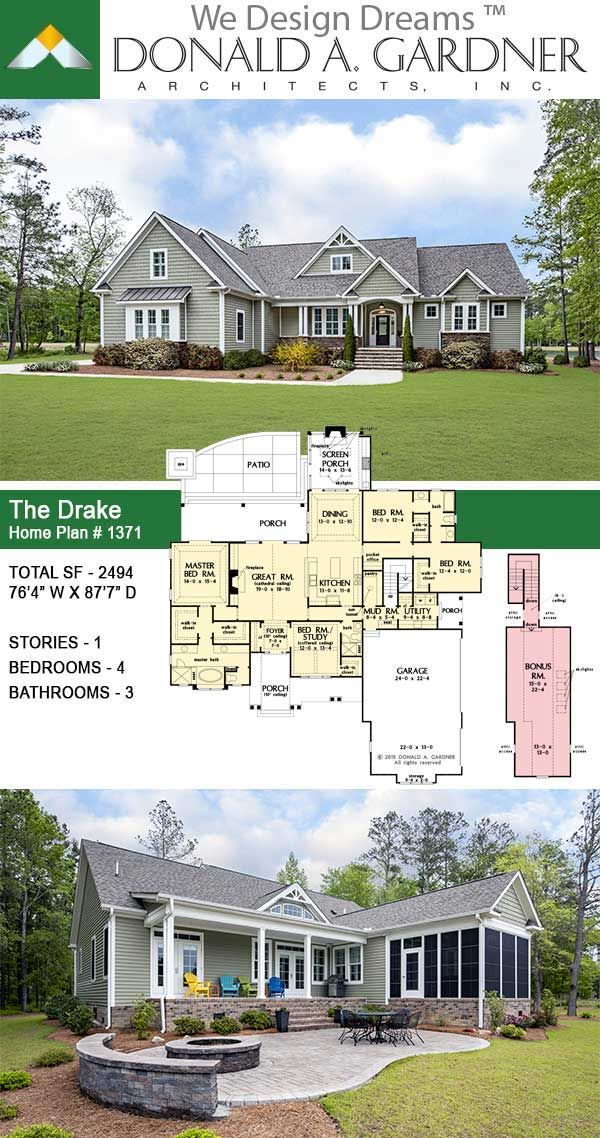 Craftsman Dream Home The Drake In 2020 Open Concept House Plans New House Plans House Plans