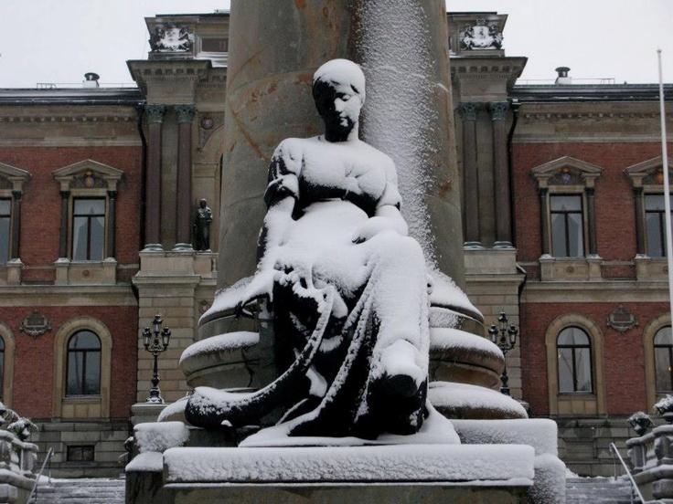 Uppsala University snow from The Local