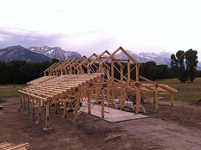 Post & Beam Timber Frame Project Construction Photo Gallery