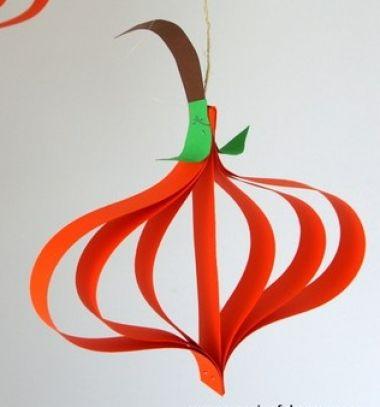 Egyszerű papír csík tökök - őszi kreatív ötlet gyerekeknek / Mindy -  kreatív ötletek és dekorációk minden napra