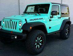 jeep wrangler islander tiffany blue Pinterest: stickinmymind