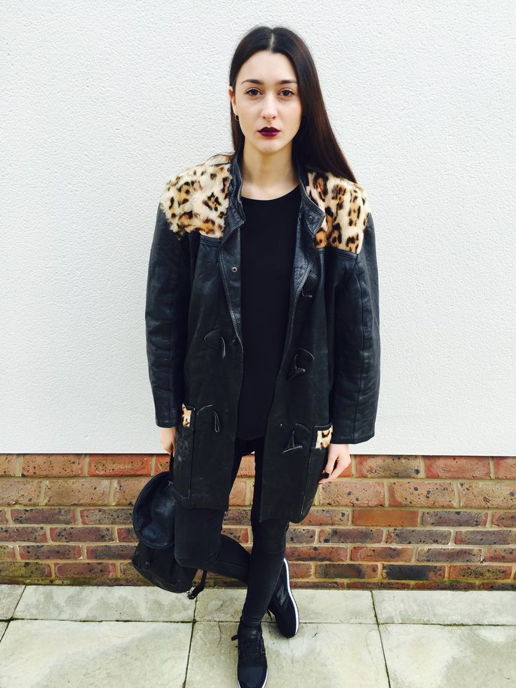 Jacket Junkie shoot... Emily wearing the 80s Leather Leopard <3 Available soon...