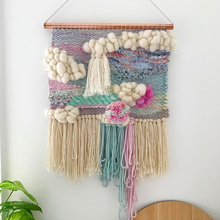 """541 Likes, 23 Comments - WEAVING & SPINNING KITS (@theunusualpear) on Instagram: """"Made on the Big Mama Loom with my hand dyed yarns and roving plus a little bit of…"""""""