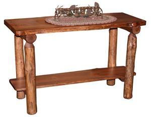 amish log furniture pine sofa table