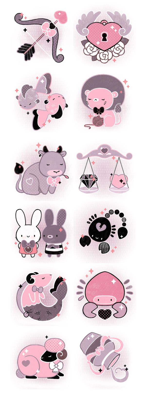 horoscope icons yes!teen 2011 by Hi Funghi , via Behance