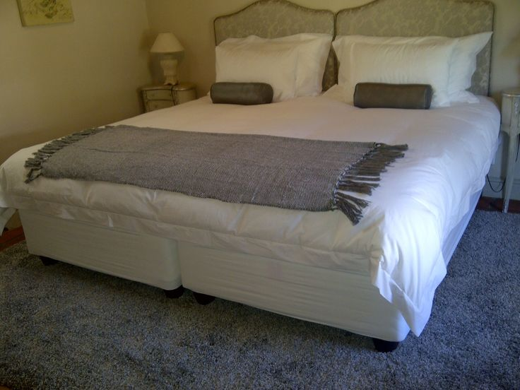 Here is room 2 of Jo-Anne Mettler's entry. Interesting fact for anyone interested, we make custom size bedding for when you put two single or three quarter beds together like this. info@linendrawer.co.za. Thank you Jo-Anne!!