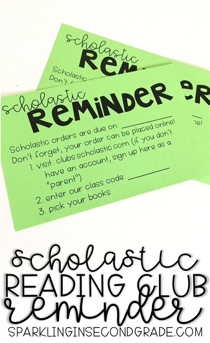 Earn FREE books with Scholastic Reading Club. Find the free reminder flyer on sparklinginsecondgrade.com
