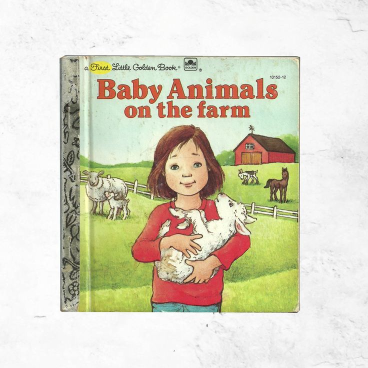 Baby Animals on the Farm | A First Little Golden Book 1980s Vintage Children | 80s Country & Rustic Adventure with Katie | Pet Play Cute Fun