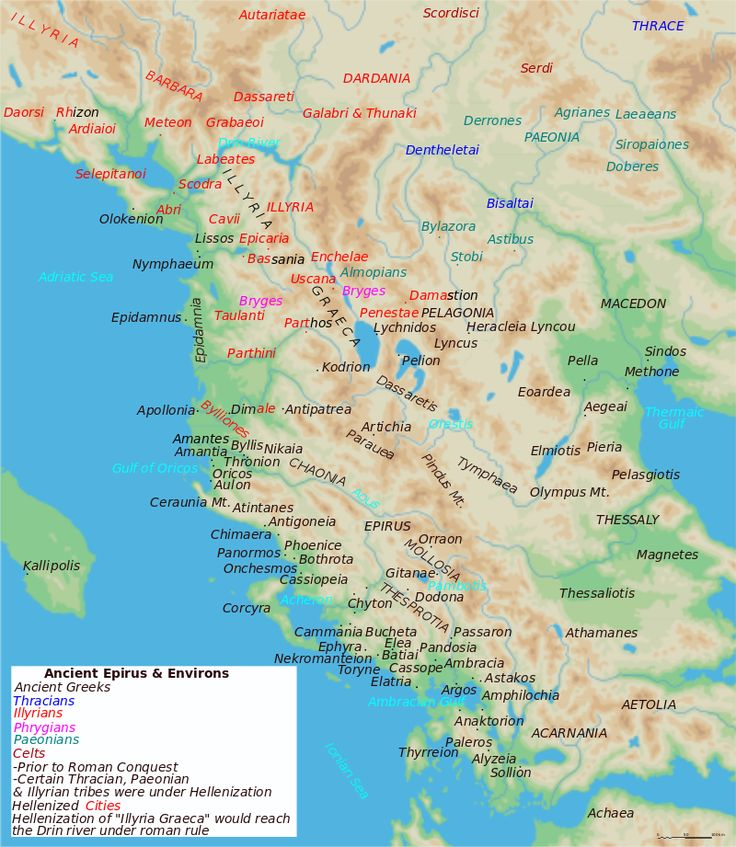 Map of ancient Epirus and environs (English) - Ambracia - Wikipedia
