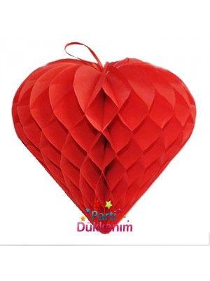 Kalpli Kırmızı Petek Süs (30 cm) fiyatı