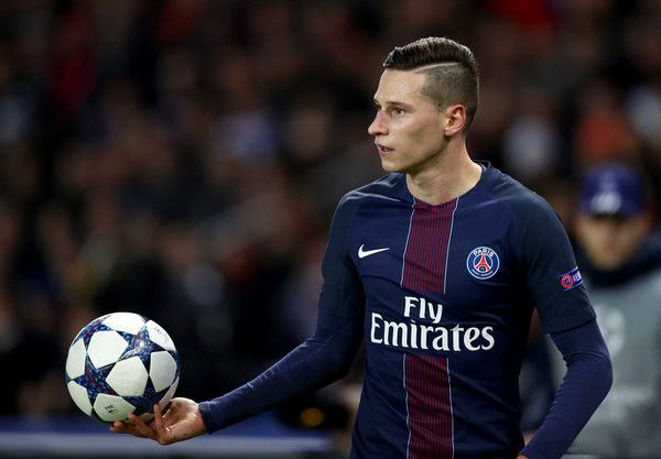 Julian Draxler of Paris Saint-Germain looks on during the UEFA Champions League Round of 16 first leg match between Paris Saint-Germain and FC Barcelona at Parc des Princes on February 14, 2017 in Paris, France.