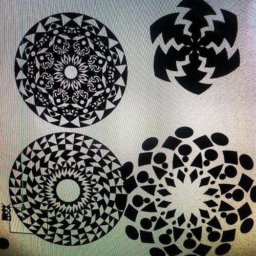 Morning meditation #geometric #opart #mandala #dotwork #neotrible #tribal #headart. #dmt #trip #outerspace
