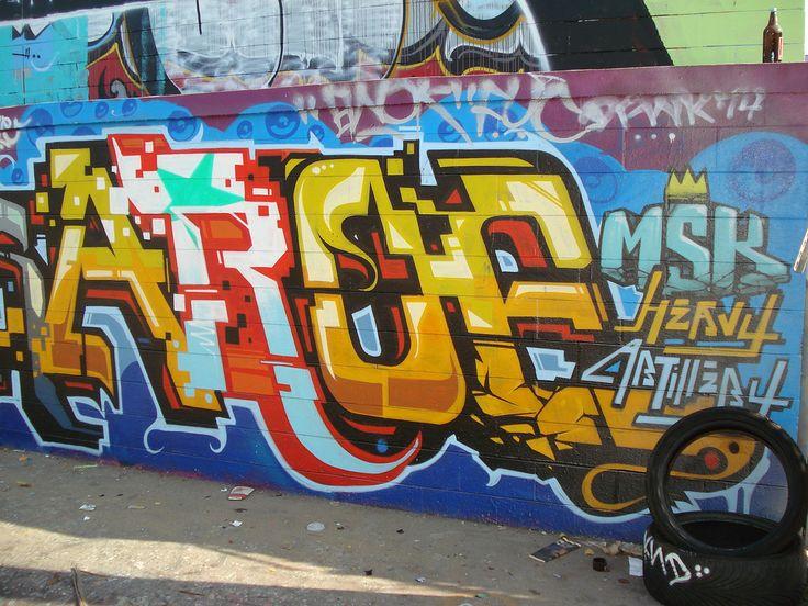 Aroe MSK HA SeventhLetter East LosAngeles Graffiti Art