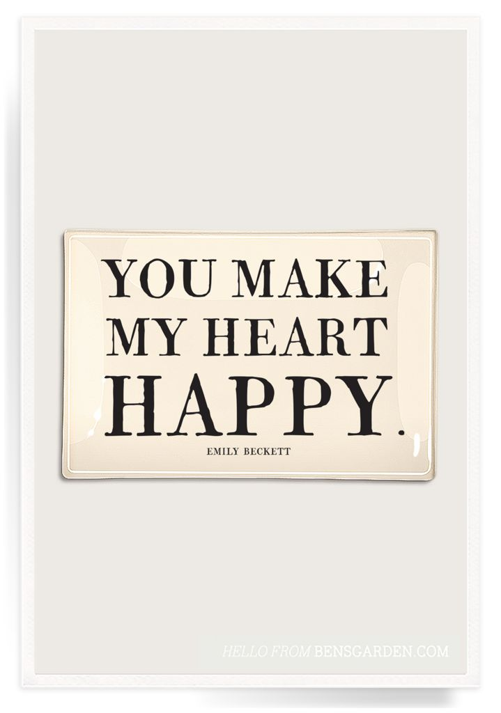 You Make My Heart Happy Decoupage Glass Tray