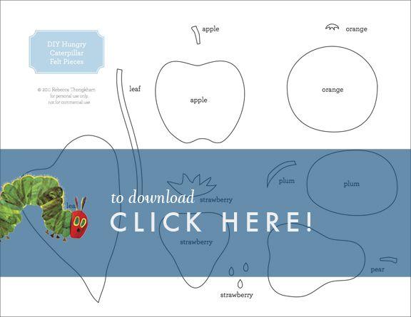 Very hungry caterpillar food templates diy very hungry caterpillar felt book free printable maxwellsz