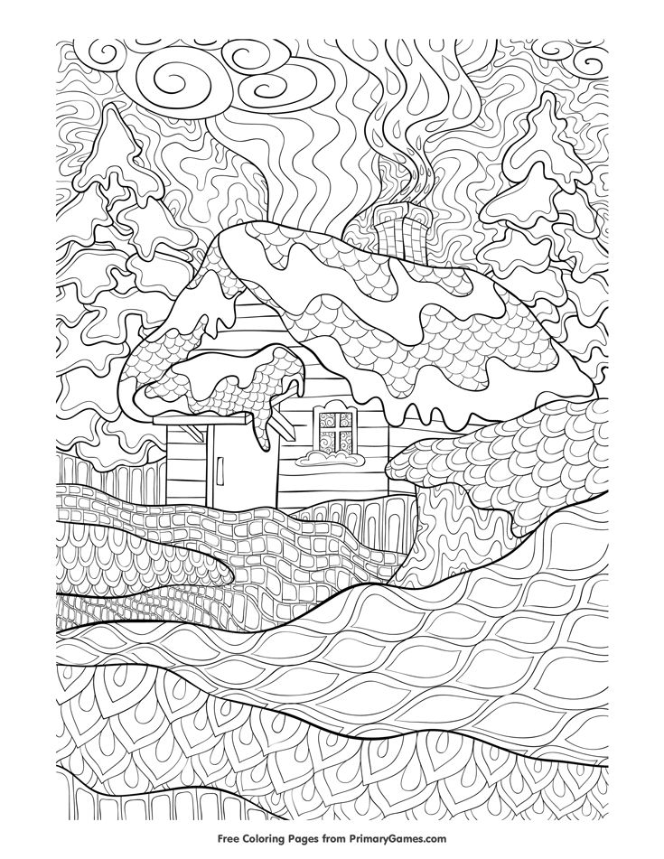 free printable winter coloring pages for adults 8185 best images about paper on 8080