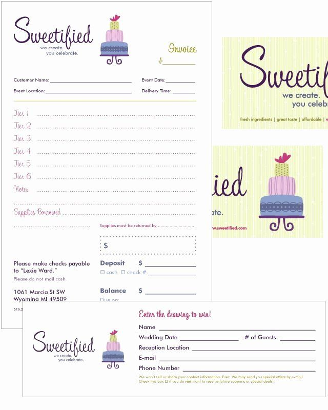 Cake Order Form Templates Microsoft Awesome Free Invoice Templates Picture Bakery Ideas Invoice Template Order Form Template Free Invoice Design