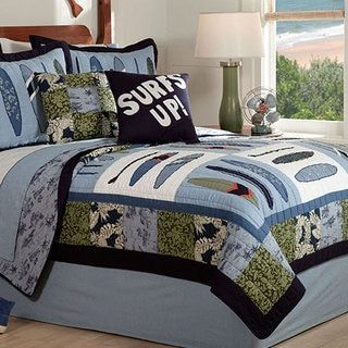 Shop for 'Catch A Wave' 3-piece Quilt Set. Get free delivery at Overstock.com - Your Online Kids'