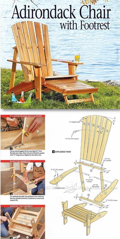 18 how to build an adirondack chair plans ideas easy diy plans rh pinterest com