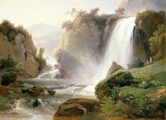 Quadro di Rèmond, la grande cascata.